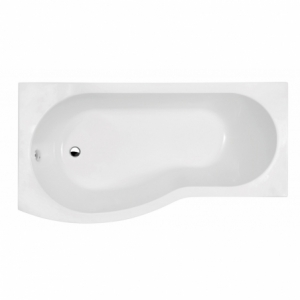 B-Shaped Shower Bath Left Handed 1500mm x 900mm