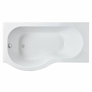 P-Shaped Shower Bath Left Handed 1500mm x 850mm