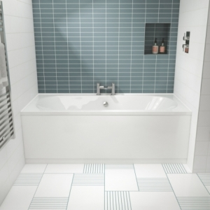 """""""Otley"""" Round Double Ended Luxury Rectangular Baths - 1700mm To 1800mm(L) x 700mm To 800mm(W)"""