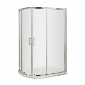 Pacific 6mm Offset Quadrant Shower Enclosure with Square Handles