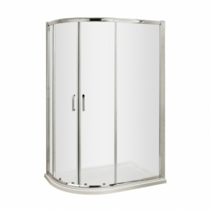 Pacific 6mm Offset Quadrant Shower Enclosure with Round Handles