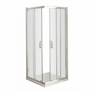 Pacific 760mm Corner Entry Shower Enclosure with Round Handles