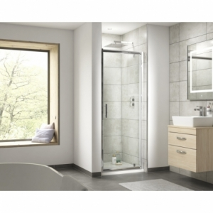 """""""Pacific"""" 6mm Pivot Shower Door with Square Handles 700mm To 900mm(W) x 1850mm(H) (4 Sizes)"""