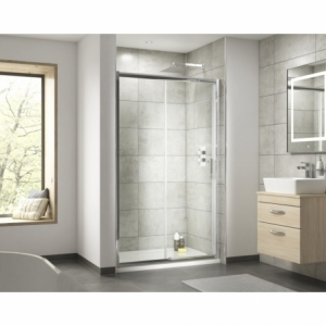 """""""Pacific"""" Single Sliding Shower Door with Square Handle 1000mm To 1700mm(W) x 1850mm(H) (7 Sizes)"""