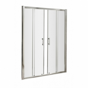 Pacific Double Sliding Shower Door with Square Handle