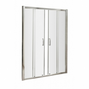 Pacific Double Sliding Shower Door with Round Handle