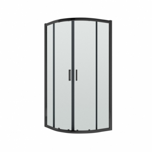 Pacific 6mm Black Quadrant Shower Enclosure