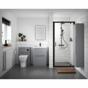"""""""Pacific"""" 6mm Black Pivot Shower Door 700mm To 900mm(W) x 1850mm(H) (4 Sizes)"""