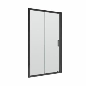 Pacific 6mm Black Single Sliding Shower Door