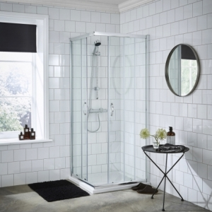 """""""Ella"""" 5mm Corner Entry Shower Enclosure with Curved Handle 760mm To 800mm(W) x 1850mm(H) (2 Sizes)"""