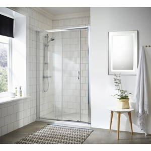 """""""Ella"""" 5mm Single Sliding Shower Door with Curved Handles 1000mm To 1200mm(W) x 1850mm(H) (3 Sizes)"""