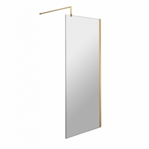 700mm Wetroom Shower Screen With Support Bar