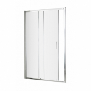 Ella 5mm Single Sliding Shower Door with  Square Handles