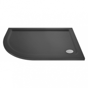 Slate Grey Offset Quadrant Shower Tray Left Handed 900mm x 760mm