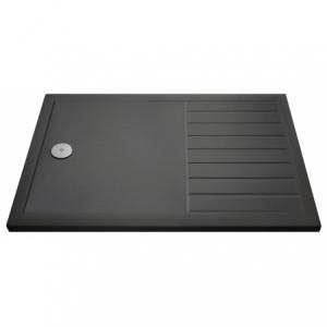 Slate Grey Rectangular Walkin Shower Tray 1400mm X 800mm