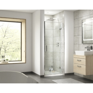 """""""Pacific"""" 6mm Hinged Shower Door with Square Handles 700mm To 900mm(W) x 1850mm(H) (4 Sizes)"""