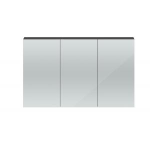 Quartet Gloss Grey 1347mm 3 Door Mirror Unit