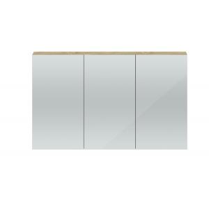 Quartet Natural Oak 1347mm 3 Door Mirror Unit