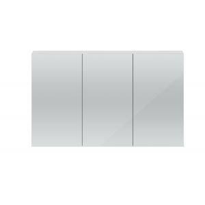 Quartet Gloss Grey Mist 1347mm x 715mm x 184mm 3 Door Mirror Cabinet