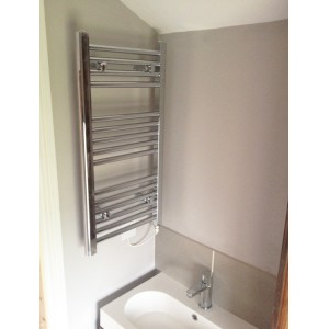 400mm (w) x 800mm (h) Single Heat Straight Chrome Towel Rail