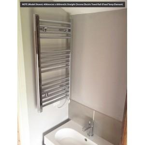 400mm (w)  x 800mm (h) Straight Chrome Towel Rail