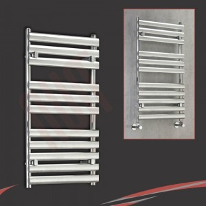 500mm (w) x 1100mm (h) Ellipse Chrome Towel Rail
