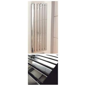 440mm (w) x 1250mm (h) Corwen Chrome Vertical Radiator
