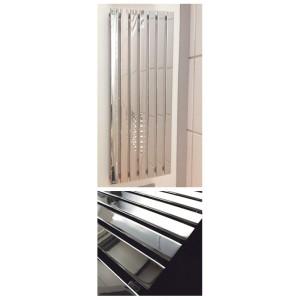 516mm (w) x 1250mm (h) Corwen Chrome  Vertical Radiator