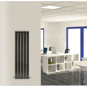 360mm (w) x 1250mm (h) Corwen Black Vertical Radiator