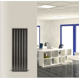 440mm (w) x 1250mm (h) Corwen Black Vertical Radiator