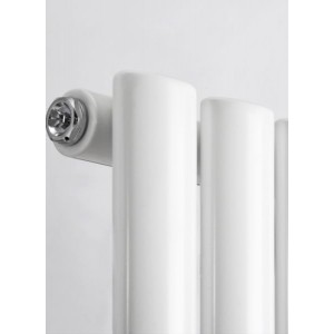 630mm (w) x 1800mm (h) Brecon White Oval Tube Vertical Radiator