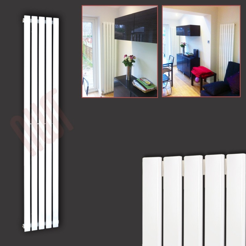 360mm (w) x 1850mm (h) Corwen White Vertical Radiator