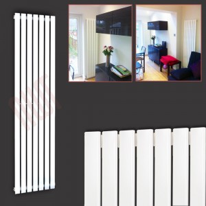 "516mm (w) x 1850mm (h) ""Corwen"" White Flat Panel Vertical Radiator (7 Sections)"