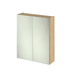 Fusion Natural Oak 600mm 2 Door Mirror Unit