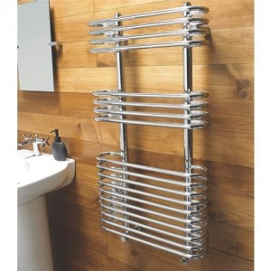 500mm (w) x 900mm (h) Single Heat Neath Chrome Towel Rail
