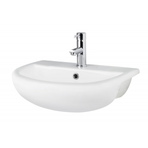 Harmony 500mm Semi Recessed Basin with 1 Tap Hole