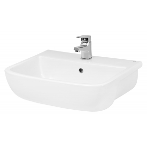 Rectangular Semi-Recessed 520mm Basin with 1 Tap Hole