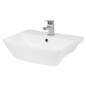 Square Semi-Recessed 500mm Basin with 1 Tap Hole