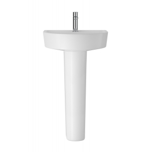 Luna 520mm Basin with 1 Tap Hole and Full Pedestal