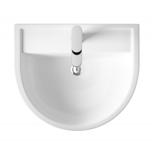 """""""Luna"""" 520mm Basin with 1 Tap Hole and Full Pedestal"""