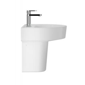 """Luna"" 420mm (w) x 445mm (h) Basin & Semi Pedestal (1 Tap Hole)"