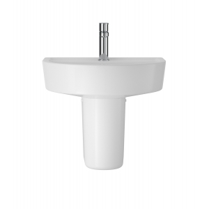 Luna 520mm Basin with 1 Tap Hole and Semi Pedestal