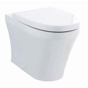 Luna Back to Wall Toilet Pan and Soft Close Toilet Seat