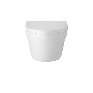 Luna Wall Hung Toilet Pan and Soft Close Toilet Seat