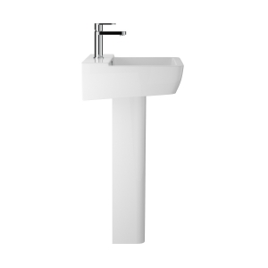 """""""Arlo"""" 550mm Basin with 1 Tap Hole and Full Pedestal"""