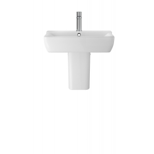 Arlo 550mm Basin with 1 Tap Hole and Semi Pedestal