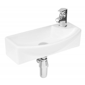 450mm x 220mm x 120mm Wall Hung Basin Basin with Left Hand Single Tap Hole