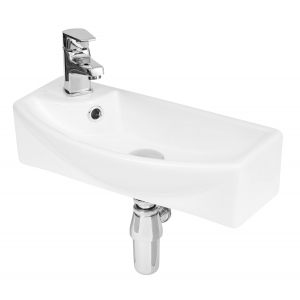 450mm x 220mm x 120mm Wall Hung Basin Basin with Right Hand Single Tap Hole