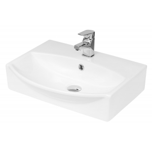 500mm x 400mm x 150mm Wall Hung Basin Basin with 1 Tap Hole