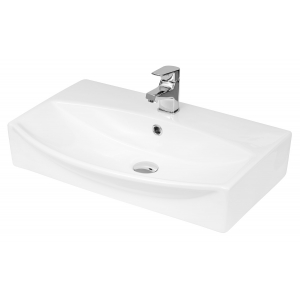 600mm x 400mm x 150mm Wall Hung Basin Basin with 1 Tap Hole